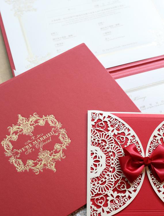 結婚書約-紅色-奶油喜帖